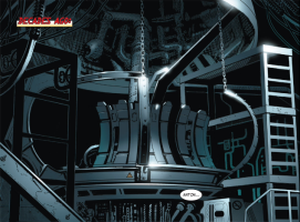Construction on the original Arc Reactor at the Stark Industries Headquarters.