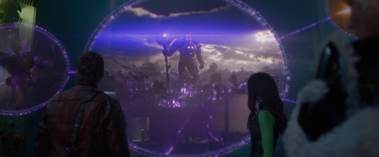 The Collector explains the history of the Infinity Stones to the Guardians of the Galaxy and shows them the previous owner of the Power Stone, Eson the Searcher.