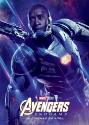 James Rhodes/War Machine Avengers Endgame Character Poster