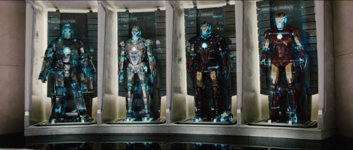 First Hall of Armors as seen in Iron Man 2.